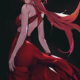 1girl, alternate costume, backless dress, backless outfit
