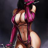 1girl, black hair, blood, bloody weapon, breasts, center opening