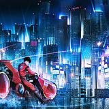 1boy, boots, building, cityscape, ground vehicle, jacket