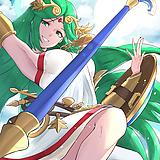 1girl, arm up, armlet, armpits, bangs, bracer, breasts